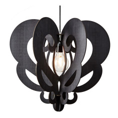 Black eco-wood Grandelier pendant light