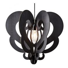 Black eco-wood Grandelier pendant light