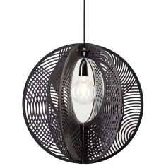Hoop grandelier pendant light in black