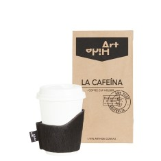La Cafeina coffee cup holder in black
