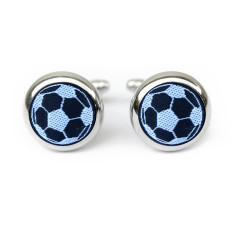 Black Soccer Cufflinks