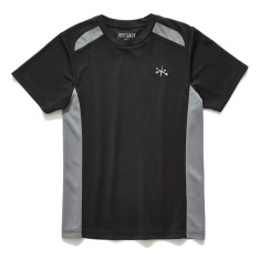 Boys Black and grey active sports tee