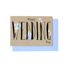 Happy wedding day greeting cards (pack of 5)