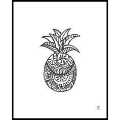 Black and white pineapple print (various designs)