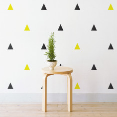 Party triangles wall stickers