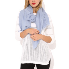 Moye cashmere stole in blue grey