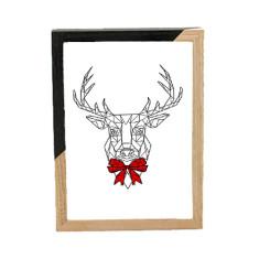 Geometric reindeer print