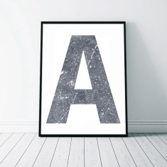 Monogram Marble Art Print (Two Designs)