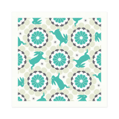 Blissful bunnies small square gift cards (set of 6)