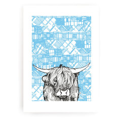 Tartan coo art print