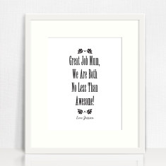 No less than awesome personalised print