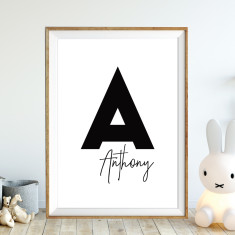 Monogram initial personalised print (more colours)