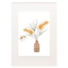 Bloom grevillea print