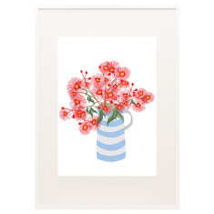 Bloom flowering gum print