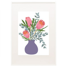 Bloom protea print