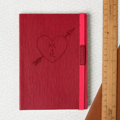 Personalised Love Heart Engraved Journal