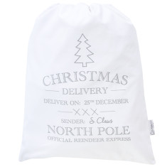 Christmas delivery santa sack in silver