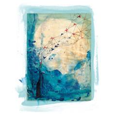 Blue Collage 8x10 Archival Art print