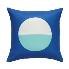 Blue & aqua circle cushion