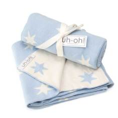 Blue stars cotton baby blanket