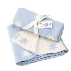 Blue stars cotton baby blanket