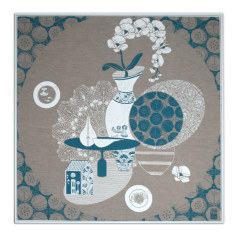 The Busy Life Still Life linen screen print