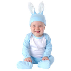 Bunny blue baby four piece set