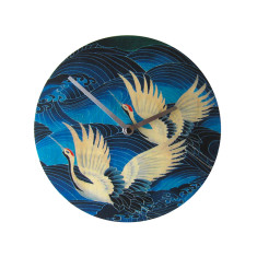Objectify Blue Crane Wall Clock