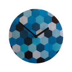 Objectify Blue Hex Wall Clock