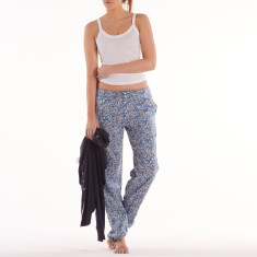 Harem lounge pants in blue laurel