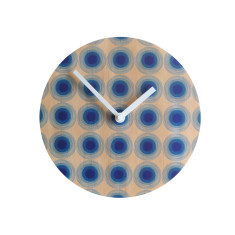 Objectify blue rings wall clock