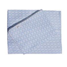 Clear skies sheet set in blue