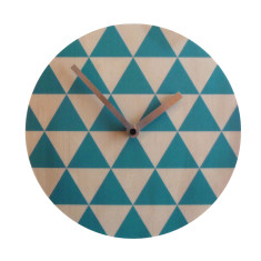 Objectify Blue Triangle Wall Clock