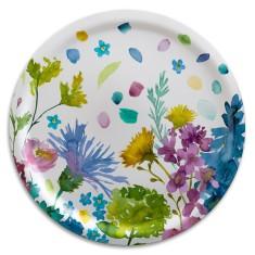 Bluebell grey round tray