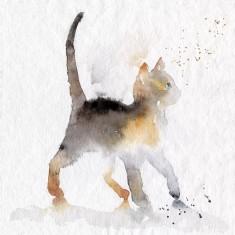 Alley kitty cat print