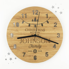 Personalised Christmas Wall Clock