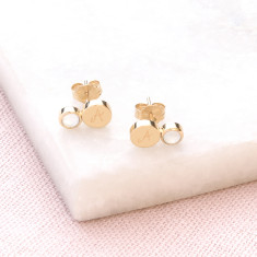 Personalised Gemstone Stud Earrings