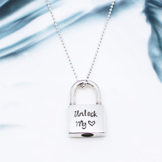 Personalised Padlock Necklace