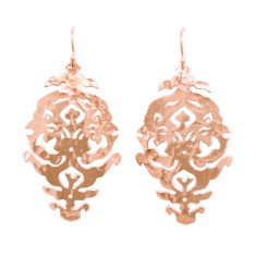 Empire drop earrings in rose gold plate