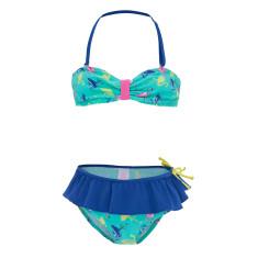 Girls' UPF 50+ flamingo bandeau bikini