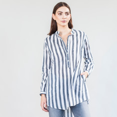 Black and white stripe long shirt