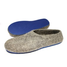 Men's Handmade Felt Slippers Blue Whale