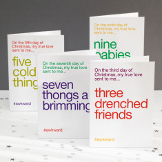 Funny Christmas cards Twelve days of Christmas (pack of 4)