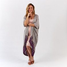 Kimocape kaftan in pink tribal (wear multiple ways)