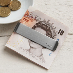 Personalised Brushed Finish Money Clip