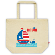 Boys' personalised tote bag