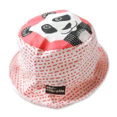 Panda pink kids' sun hat