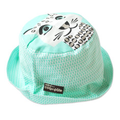 Leopard green kids' sun hat