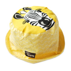 Zebra yellow kids' sun hat