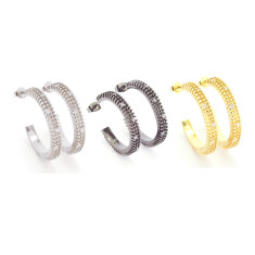 Skylight hoop earrings